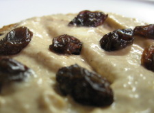 Spread on toast with raisins, and its ambrosial.