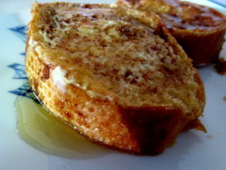 Maple-drizzled stuffed French toast