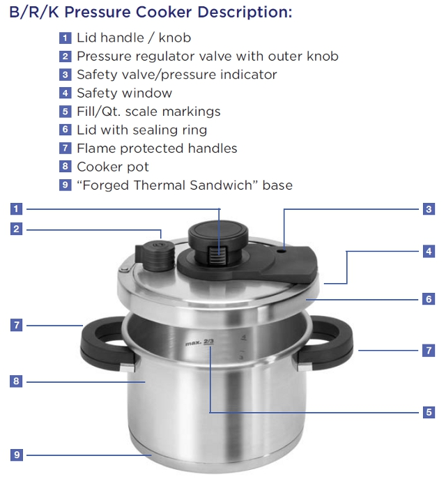 advanced brk pressure cookers
