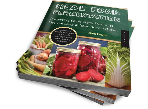 real food fermentation alex lewin book stack