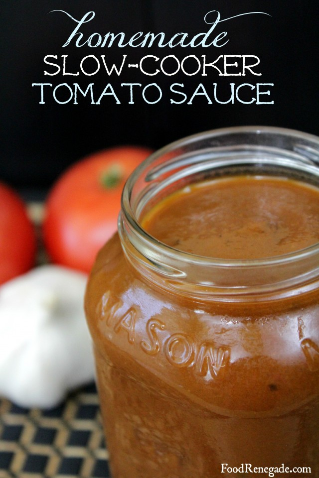 Homemade SlowCooker Tomato Sauce
