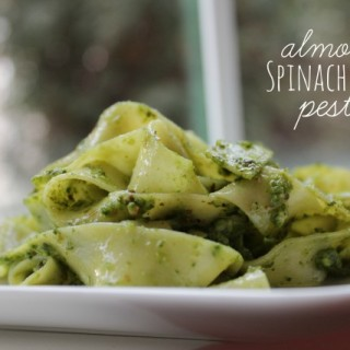 Almond Spinach Basil Pesto