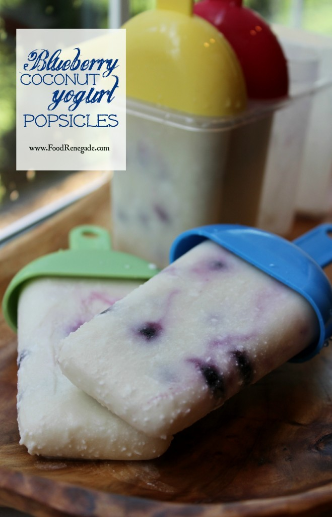 Blueberry Coconut Yogurt Popsicles