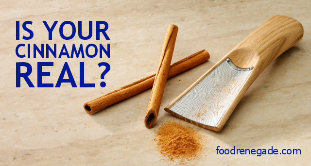 Fake Cinnamon vs. Real Cinnamon