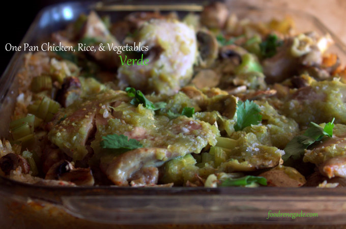 One Pan Chicken and Rice Verde
