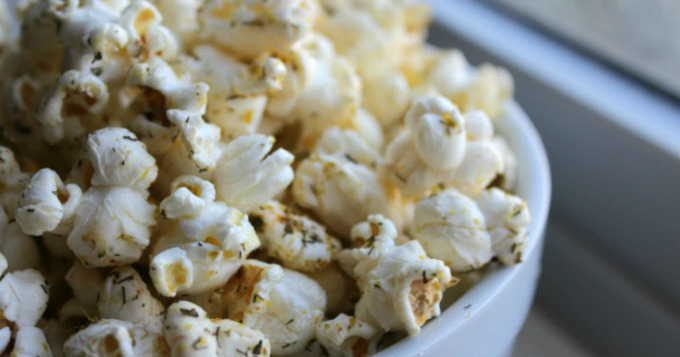Dill and Basil Homemade Popcorn