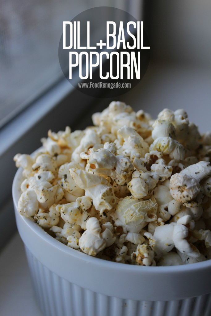 Dill and Basil Popcorn Pin