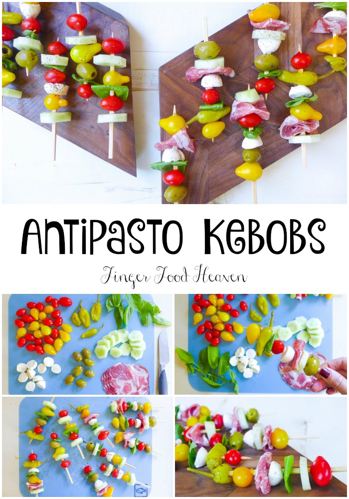 Finger Food Antipasto Kebobs Paleo Optional