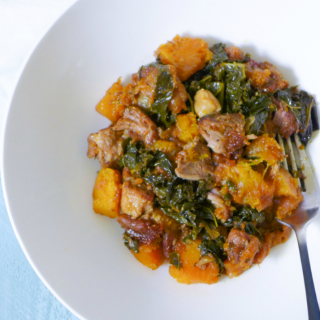 Paleo Slow~Cooked Braised Pork w/Apricots {Crock Pot, Whole30}