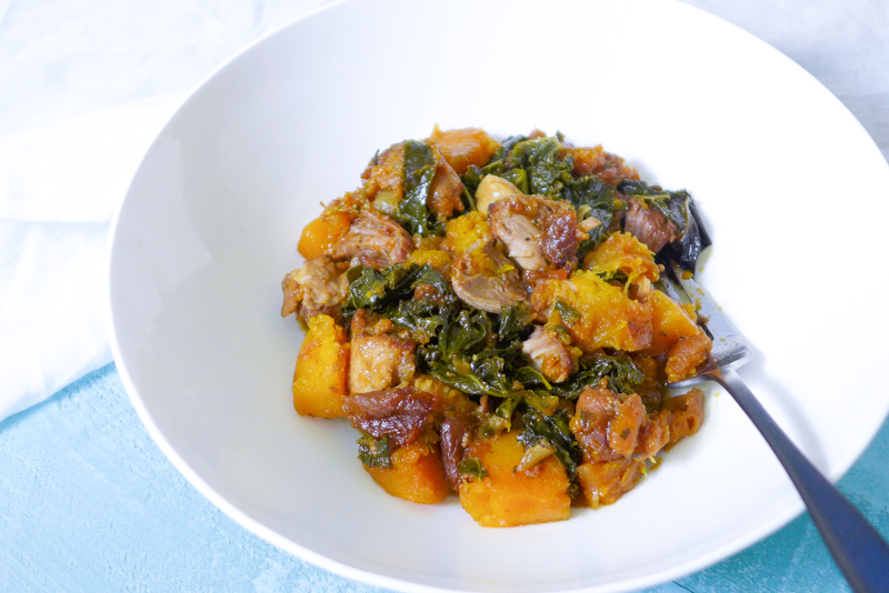 pork crock pot kale apricot garlic-8
