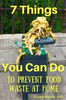 7 Things to Prevent Food Waste