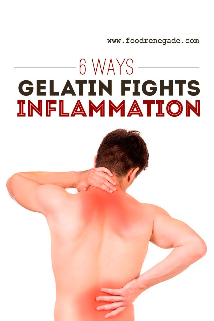how gelatin fights inflammation